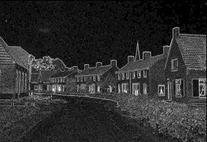dorpstraat-negatief