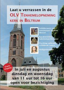 R.K. Kerk OLV Tenhemelopening open voor bezichtiging van 11.00u tot 16.00 uur